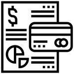 Black and White Credit Report Icon