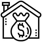 Property Asset With Money In Front Icon